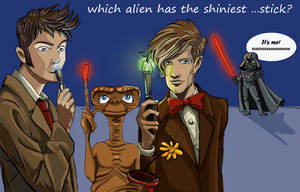 doctors and shiniest sticks by DameEleusys