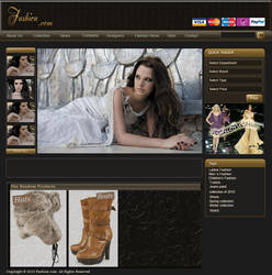 Fashion related website by rojeni