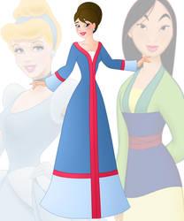 disney fusion: Cinderella and Mulan by Willemijn1991