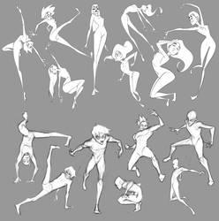 Impractical Poses by Sketch-Geek