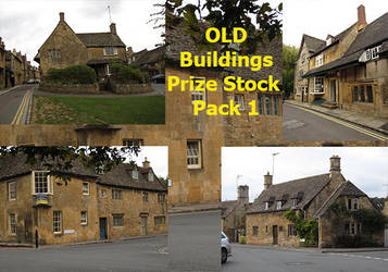 Old Buildings Prize Stock Pack 1 by supersnappz16