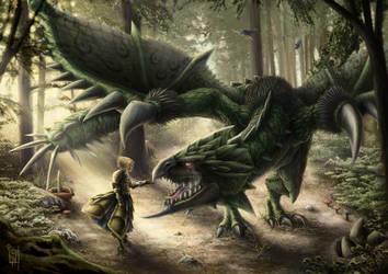 Rathian princess - Monster Hunter by izzykarasu