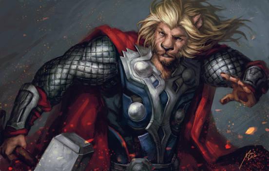 Avenger-Lion Thor by Scyao