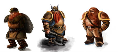 Dwarves by Koowanchee