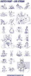 Sketch Dump - 2014 to Now by Lorddragonmaster