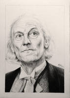 Drawing Doctor Who Project- William Hartnell by Atarial
