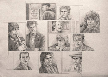 Drawing Doctor Who Project- Doctors by Atarial