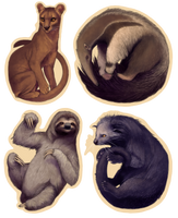 Odd Animal Stickers by Atarial