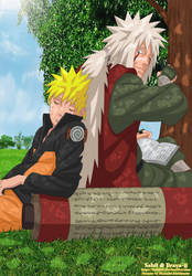 Under a Tree - Naruto-Jiraiya by Sahil69