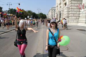 Gay Pride - Regenbogenparade 2010 by Yami-no-Mina
