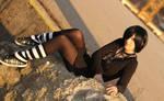 Black Hair Look by Yami-no-Mina