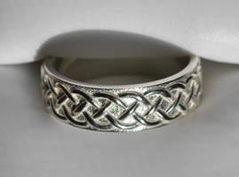 Celtic Knot Wedding Band Braid Design by dfoley75