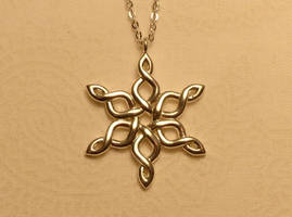 Celtic Knot Snowflake 30mm Premium Silver by dfoley75