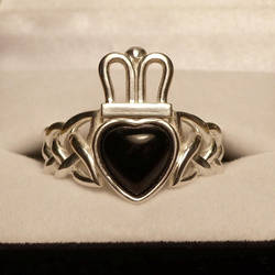 Onyx Claddagh Ring by dfoley75