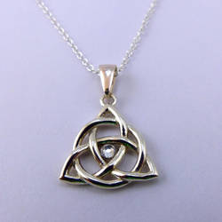 Triquetra Necklace with crystal by dfoley75