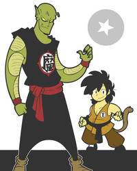 Piccolo and Goku by FreakingArG
