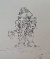 Orc sketch by LukaCakic