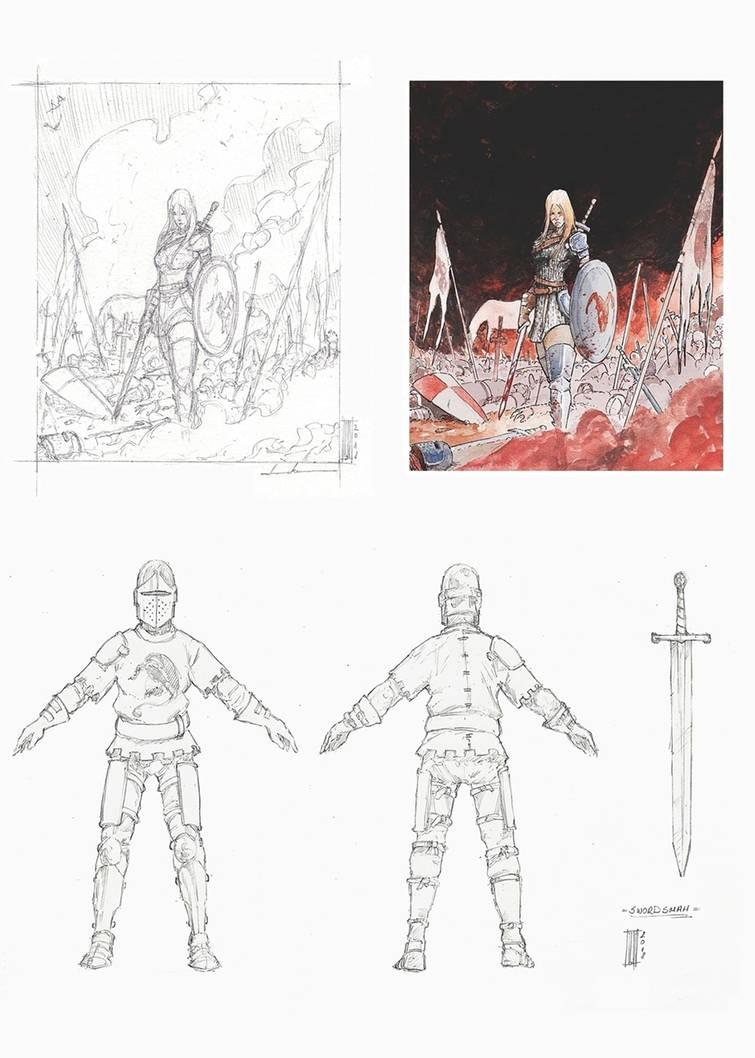 Swordsman, shieldmaiden by LukaCakic