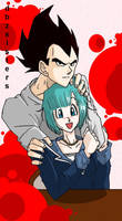 Vegeta and Bulmaa by dbzsisters