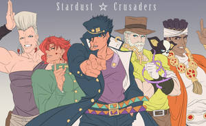 STARDUST CRUSADERS by thekingofqueens25