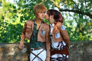 Jean and Sasha kiss by baominnie
