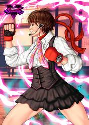 Sakura Kasugano - Street Fighter 5 by FabianoCardozoArt