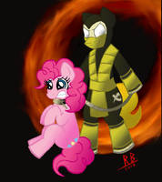 Scorpion and Pinkie Pie by RB-Gameaddict