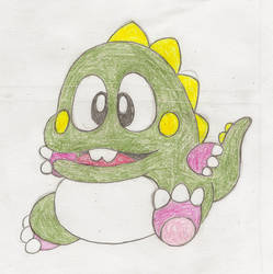 Bubble Bobble Bub Sketch by Casey387