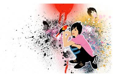 paintball girl by hearshotkiddisaster