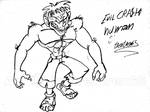 Human Evil Crash bandicoot by CrashBandicoot2015