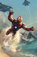 Invincible Iron Man by Aleksi--Briclot