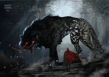 Fenrir in Thor : Ragnarok by Aleksi--Briclot