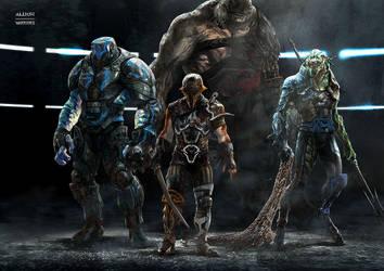 Thor Ragnarok : Gladiators by Aleksi--Briclot
