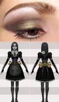 Alice Steamdress Eye Makeup by PrincessNami
