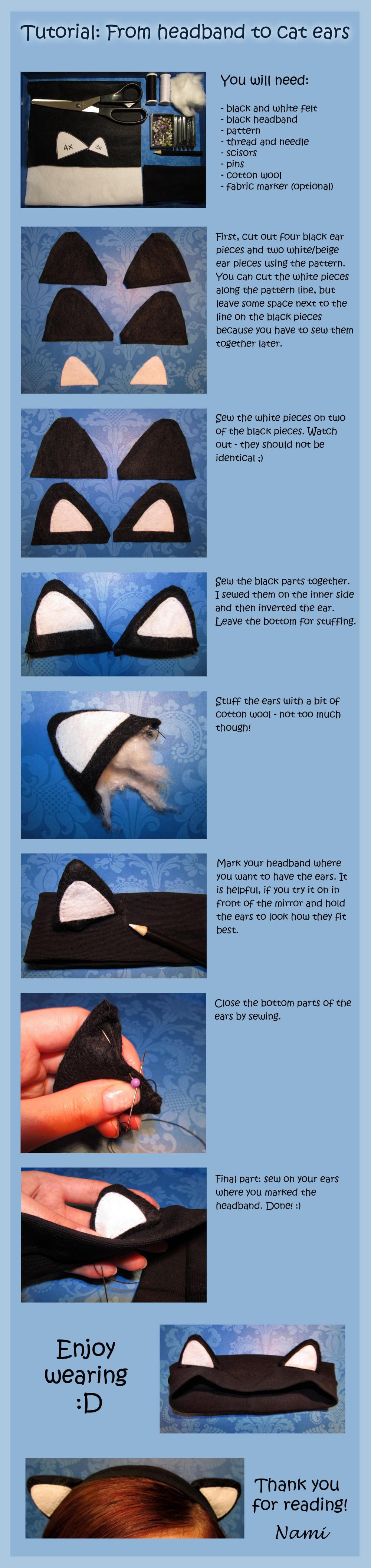 Tutorial: from headband to cat ears by PrincessNami