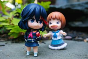 Mako and Ryuko nendoroids by frasbob