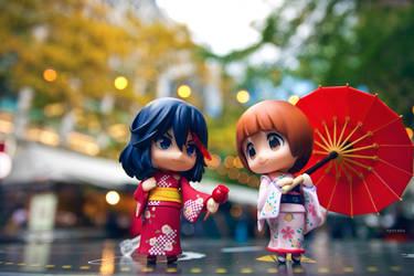 Mako and Ryuko by frasbob