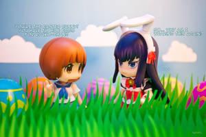 Satsuki and Mako Easter by frasbob