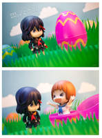 Ryuko and Mako Easter by frasbob