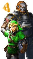 Legend of Zelda : Link Ganondorf by oetaro