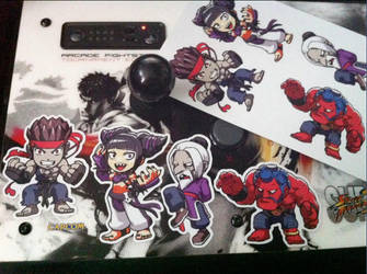 Street Fighter 4 Stickers by oetaro