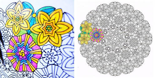 Inner Light coloring mandala PDF by candy-hippie