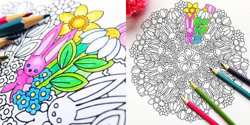 Spring Has Sprung - spring coloring page by candy-hippie