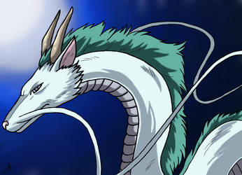 Haku (Spirited Away) by The-White-Tigress