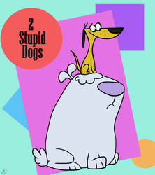 The Big Dog and The Little Dog (2 Stupid Dogs) by The-White-Tigress