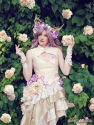 Fawn in Flowers by RobbyIdolMedia