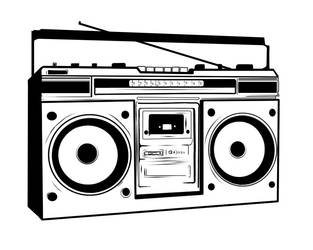 80s boombox vector by asbury26