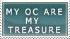 My OC are my treasure STAMP by The-Last-Fallen-Ange