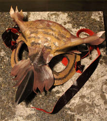 Handmade Leather Great Horned Owl Mask by SilverHauntArmoury