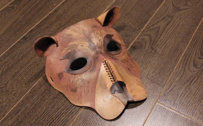 Hand-Painted Leather Bear Mask by SilverHauntArmoury